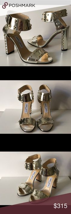 f2f1a0f2936ec Jimmy choo veto 100 studded ankle cuff sandals nwt