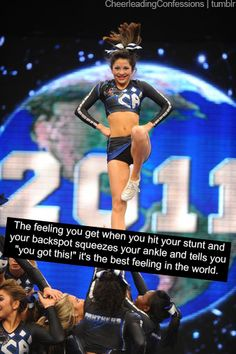 This is why I hate cheerleading. What is that? Is that supposed to be a posse? Stop sickling your foot! Gross!!!