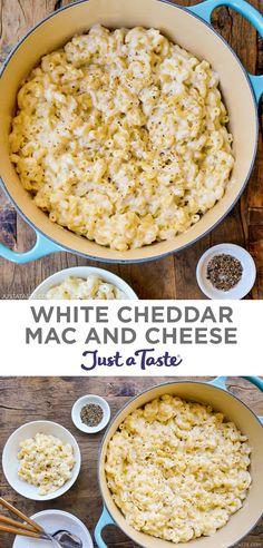 Cheddar Mac N Cheese Recipe, Creamy Macaroni And Cheese, Cream Cheese Recipes, Cheese Sauce, Bhg Recipes, Retro Recipes, Popular Recipes, Fall Recipes, Ethnic Recipes