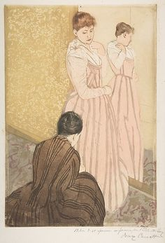 The Fitting - Mary Cassatt - 1890-91. Professional Artist is the foremost business magazine for visual artists. Visit ProfessionalArtistMag.com.- www.professionalartistmag.com