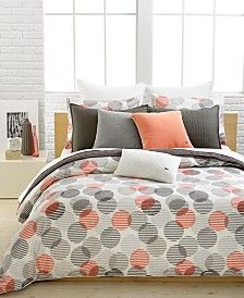 Lacoste Home Odaiba Full/Queen Duvet Cover Set - Bedding Collections - Bed & Bath - Macy's King Duvet Cover Sets, Queen Comforter Sets, Bed Duvet Covers, Queen Duvet, Odaiba, Orange Duvet Covers, Duvet Bedding, Cotton Bedding, Comforters Bed