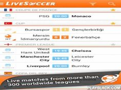 """LiveSoccer - Soccer Scores  Android App - playslack.com ,  LiveSoccer is a FREE football app that allows you to follow all the major worldwide soccer leagues (including Major League Soccer, the Premier League, and Champions League to name just a few), and get realtime notifications for your favourite teams in all competitions.LiveSoccer has already conquered fans from all over the world:""""Good app, very accurate, up to date and sleek UI.""""""""Per gli amanti del calcio è davvero una bellissima…"""