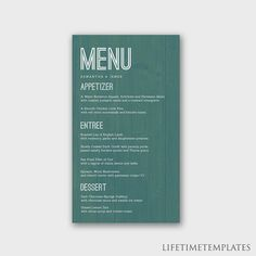 Make the best menu for your wedding day. Download this template today! #PSD #Handmade #Wedding