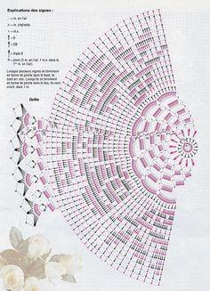 Kira scheme crochet: Scheme crochet no. Filet Crochet, Crochet Diagram, Crochet Chart, Thread Crochet, Crochet Stitches, Knit Crochet, Crochet Doily Patterns, Crochet Mandala, Crochet Doilies