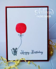 Just another lazy ' Balloon Happy'  day   AWW by Cathy Caines @Stampin' Up!