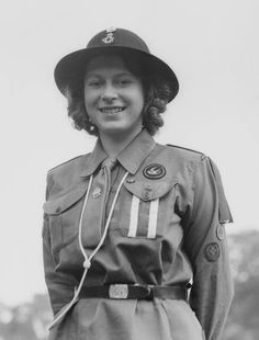 Princess Elizabeth as a Girl Guide