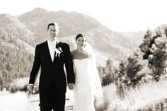Paul and Kelly bride and groom photos in Squaw Valley - the perfect sun drenched destination wedding in the mountains