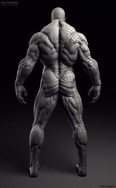 Extreme Bodybuilder - vray renders More