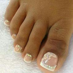 Cute Toenail Designs, Pedicure Designs, Toe Nail Designs, Pedicure Nails, 3d Nails, Toe Nail Art, Ronaldo, Make Up, Beauty