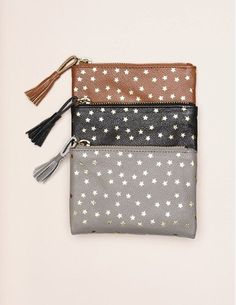 Des Petits Hauts Zebu leather purse - black - Feather & Stitch