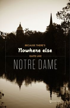 Notre Dame Admissions Poster by Kara Scheer, via Behance
