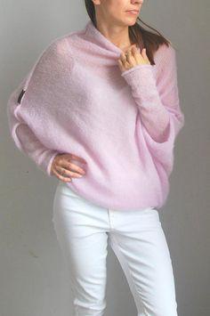 49d167de773 Light pink sweater light pink cardigan knitwear handmade