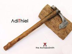FN_04/c Handled Damascus Steel Hammer Poll Combat TOMAHAWK (axe, hatchet)