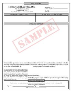 Printable Business Proposal Template  Proposal Form   Classic