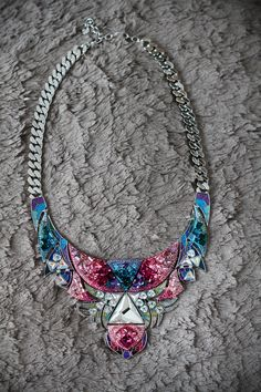 Swarovski necklace spring summer 2013. Love super coloreful necklaces!  www.ireneccloset.com