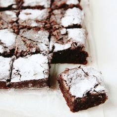 THE BEST Chocolate Fudge Brownies. Chewy, dense and chocolatey with the perfect crumbly, flaky top