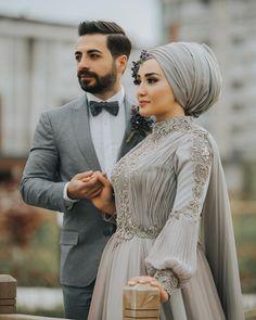 Likes, 49 Comments - Tülin Çakır Akgündoğdu (Tülin Çakır) on Insta. Hijab Dress Party, Muslim Wedding Dresses, Muslim Brides, Muslim Dress, Wedding Dress Chiffon, Bridal Hijab, Hijab Bride, Wedding Hijab, Bridal Gowns