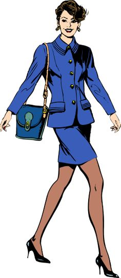 923d2a2a334f business woman cartoon