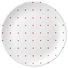 #Red Dot Porcelain Plate - #birthday #gift #present #giftidea #idea #gifts