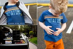 film petit: back to the future license plate tee // skirt as top