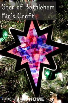 christian christmas crafts Star of Bethlehem Craft for Kids - make a beautiful make a christmas ornament children will remember and point them to Jesus, light of the world with this fun Bible craft activity for your Advent celebration. Christian Christmas Crafts, Christmas Bible, Kids Christmas, Christmas Ornaments, Kids Ornament, Christmas Manger, Bible Crafts For Kids, Christmas Crafts For Kids To Make, Preschool Christmas
