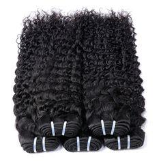 Sunlight Human Hair Curly Weave Human Hair Peruvian Hair Bundles Non Remy Hair Extensions Natural Black Can buy 3/4/5 Bundles