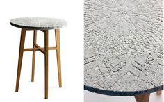 mesa auxiliar cemento impreso patas de madera