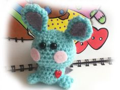 Crochet amigurumi bat Bunny by MyLittleBeastie on Etsy, £4.75