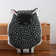 Black Sheep Pillow MADE TO ORDER by Gingiber