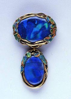 Black opals that Charles Lewis Tiffany would have been puzzled by - but George Kunz knew that Louis Comfort Tiffany  would do them justice. Made by Meta Overbeck in Louis's NYC studio.