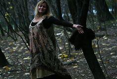 Eco style and boho chic fashion felted dress from от LunataFelt
