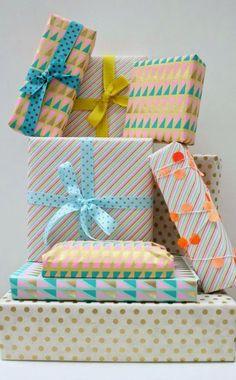 Ideias simples para embalar presentes de Natal Reciclar e Decorar - Blog de Decoração e Reciclagem