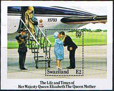 Swaziland Queen Mother Life and Times Miniature Sheet Fine Mint SG 490 Scott 481 Queen Mothers 85th Birthday Other Swaziland Stamps HERE