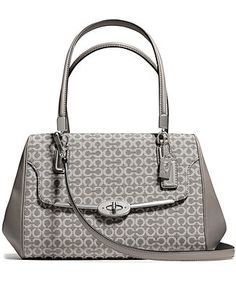 COACH MADISON SMALL MADELINE EAST WEST SATCHEL IN OP ART NEEDLEPOINT FABRIC  Handbags   Accessories - COACH - Macy s 9b0e276128019