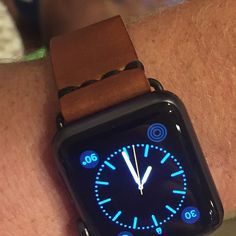 I bought this leather band for my boyfriend's space grey Apple Watch to replace his black sport band when he wanted to wear his watch for dressier occasions. The band is beautifully crafted and the adapter color matches the space grey watch face perfectly. This leather band is, in my opinion, way more attractive and durable than the leather band that Apple has for sale. (not to mention it is cheaper than Apple leather band) AMAZING product!!!!  Reviewed by C K