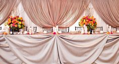 head table with draping - Google Search