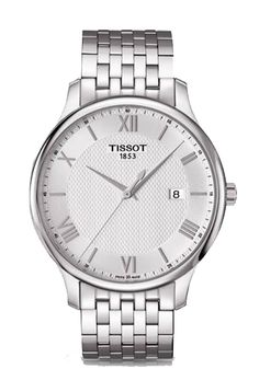Tissot Traditional mens quartz silver dial with stainless steel bracelet watch. Visit http://www.midwestestatebuyers.com/tissot-watches/ to explore more or stop by our jewelry store in Zionsville Indiana