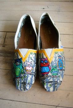 fa5b4722324 Save the Whales! Hand painted TOMs full of swirls and Swarovski sparkle. By  VMoliDesigns on Etsy.com