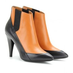 Balenciaga Two-Tone Ankle Boots ($1,085) ❤ liked on Polyvore