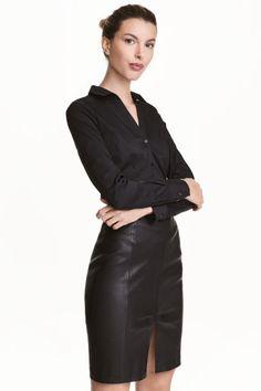 Stretch shirt - Black | H&M CA