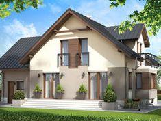DOM.PL™ - Projekt domu ZA Dom w Teksasie CE - DOM ZA1-51 - gotowy koszt budowy Home Fashion, Mansions, House Styles, Outdoor Decor, Home Decor, Decoration Home, Manor Houses, Room Decor, Villas