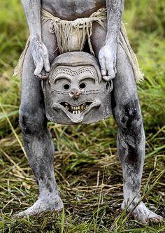 Mud man Papua New Guinea