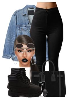 """""""Space"""" by chiamaka-ikaraoha ❤ liked on Polyvore featuring Y/Project, Lime Crime, Michael Kors, Yves Saint Laurent and Timberland"""