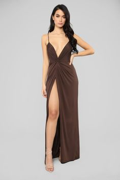 117fa9cd13 Deep V Neck Sexy Two Side High Slit Maxi Long Dress