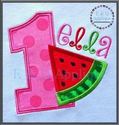 Watermelon Birthday 1 Applique Design