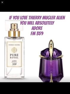 If you love Thierry Mugler Alien then you should definitely try our containing similar unique notes but a higher quality fragrance without the price of the fancy bottle. Perfume Glamour, Perfume Versace, Fm Cosmetics, Cosmetics & Perfume, Alien Perfume, Perfume Good Girl, Perfume Quotes, Fragrance