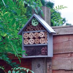 Give nature a helping hand with the Kingfisher Wooden Insect Hotel. Made from natural wood with a gloss grey finish, it has multiple environments for bees and ladybirds to call their home. Garden Decor Items, Garden Gifts, Outdoor Garden Furniture, Outdoor Decor, Sutton Seeds, Bug Hotel, Pine Cone Decorations, Box Houses, Beneficial Insects