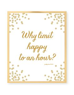 Why Limit Happy To An Hour?prettychicsf