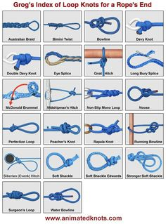 Climbing Knots Grog S Index Of Climbing Knots Great