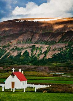 Typical scene in rural Iceland near Akureyri.